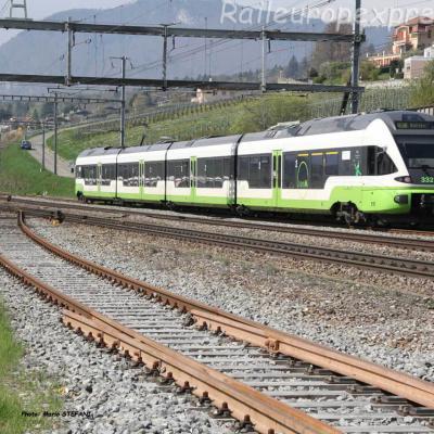 RABe 527 332 TransN à Auvernier (CH)