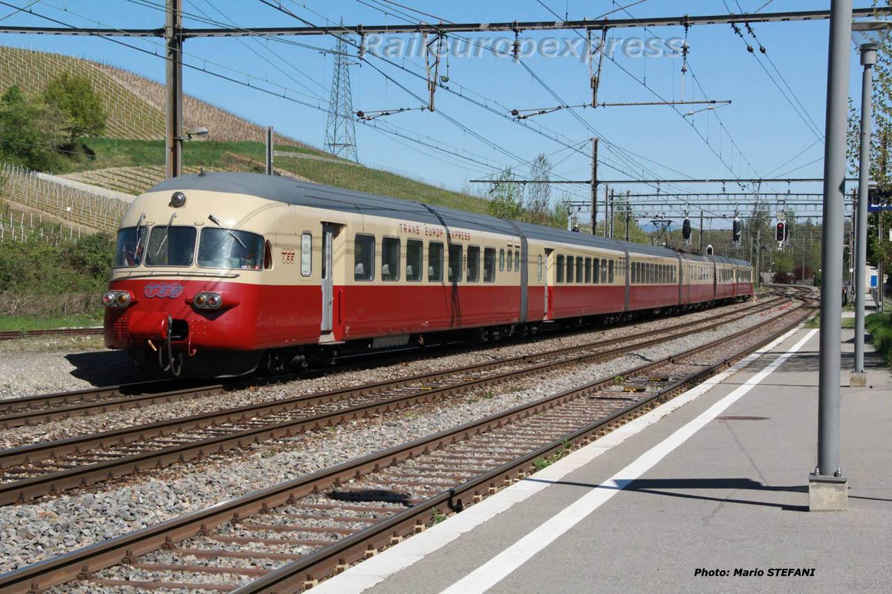 RAe TEE CFF 1053 à La Plaine (CH)