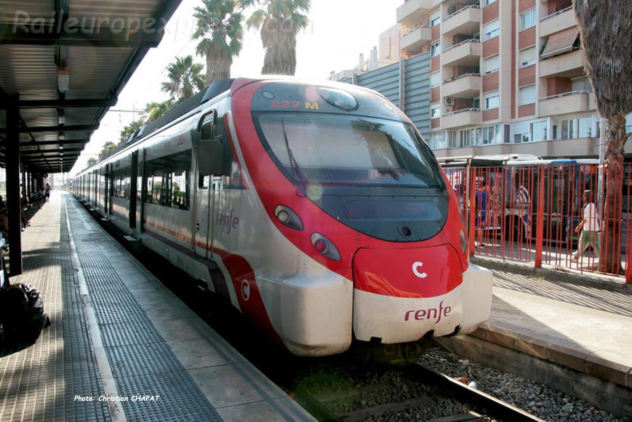 Rame régionale RENFE série 464/465 banlieue de Barcelone (SP)