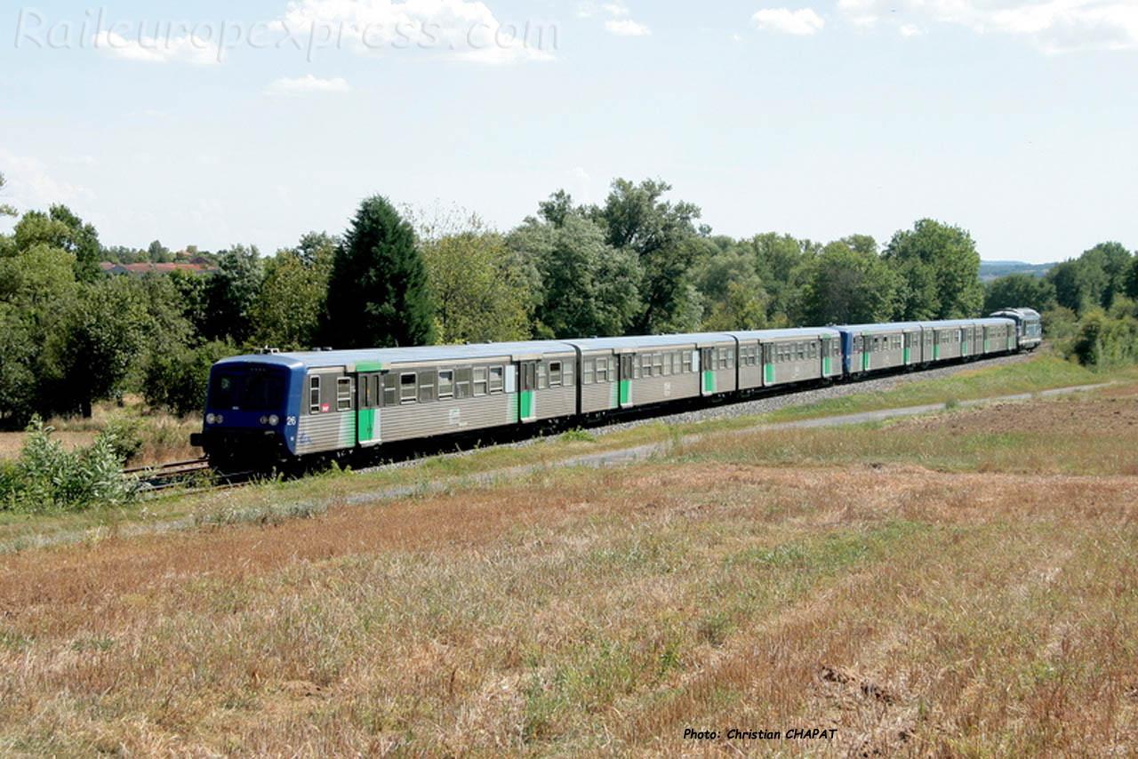 Rame Réversible Régionale SNCF à Arvant (F-43)