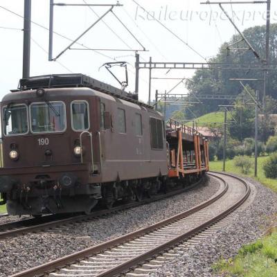 Re 4/4 190 BLS à Kumm (CH)