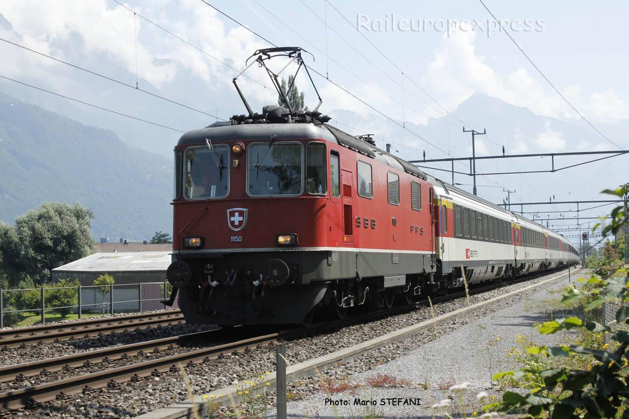 Re 4/4 II 11150 CFF à Murg (CH)
