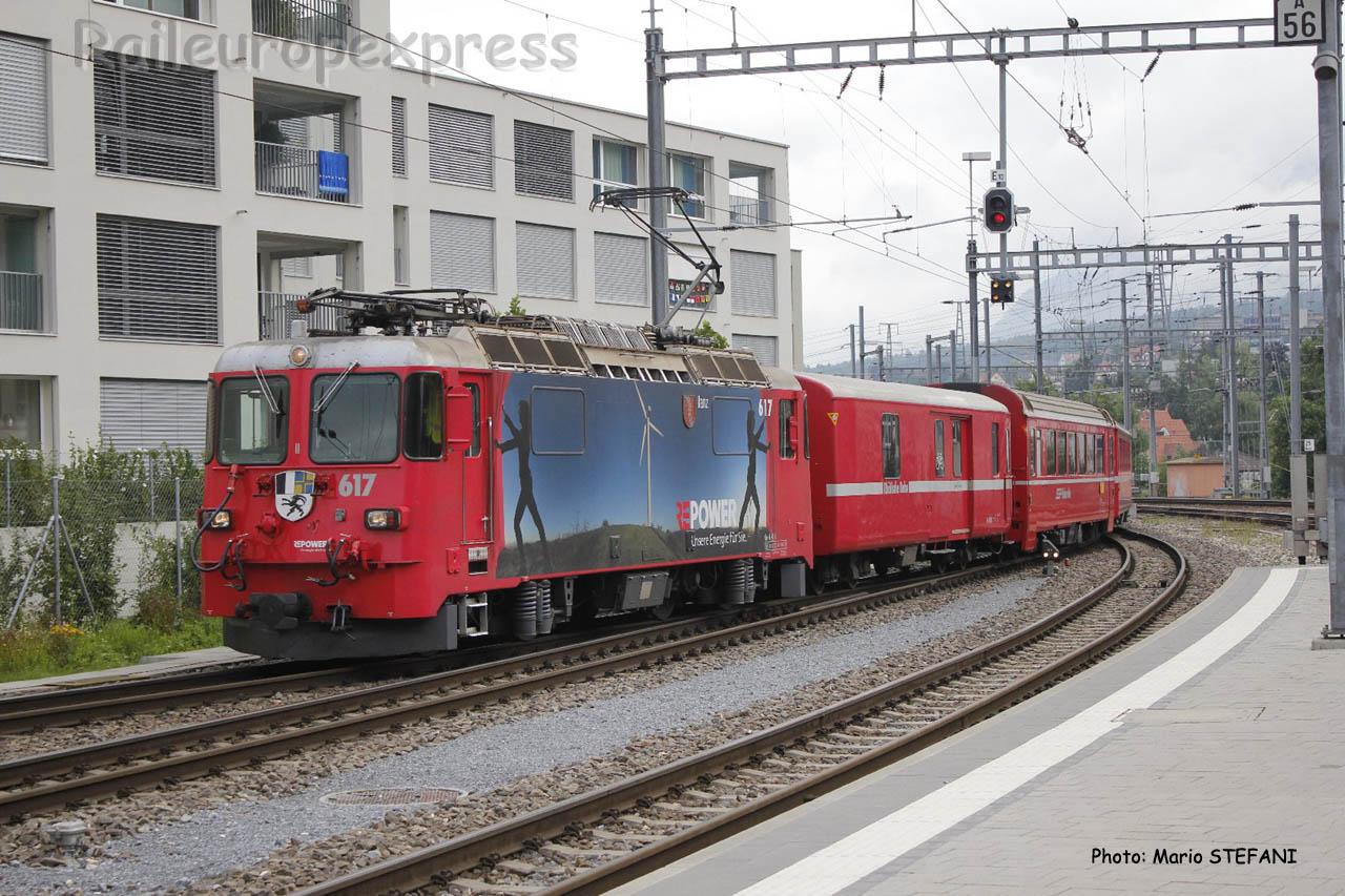 Re 4/4 II 617 RhB à Chur (CH)