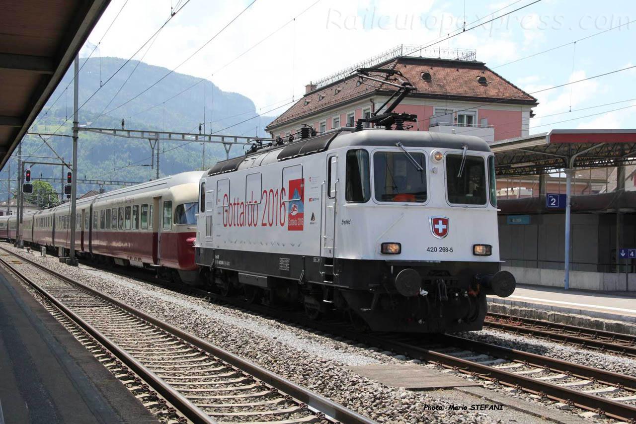Re 420 268-5 CFF à Brunnen (CH)