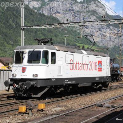 Re 420 268-5 CFF à Erstfeld (CH)
