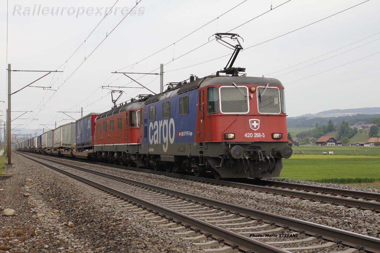 Re 420 268-5 CFF à Kiesen (CH)