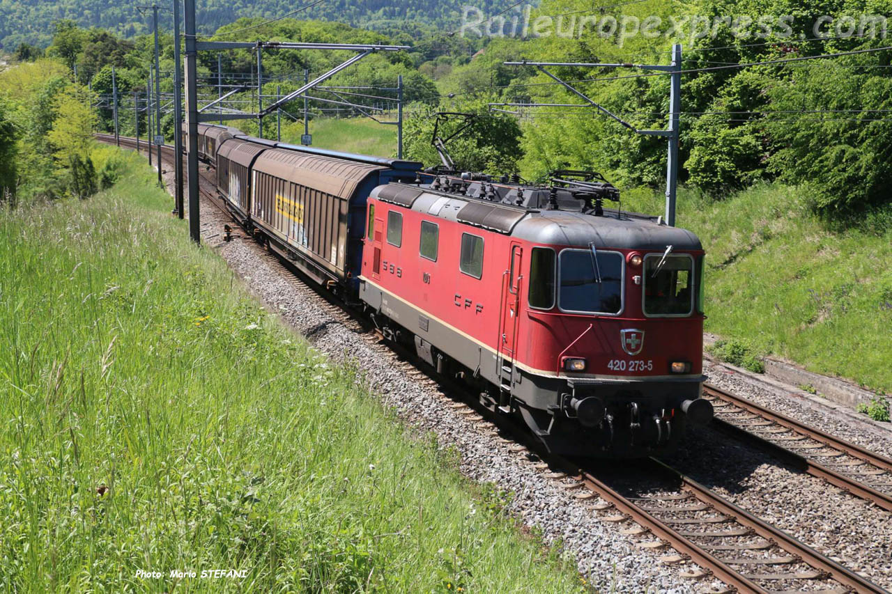 Re 420 273-5 CFF à Colombier-Planeyse (CH)