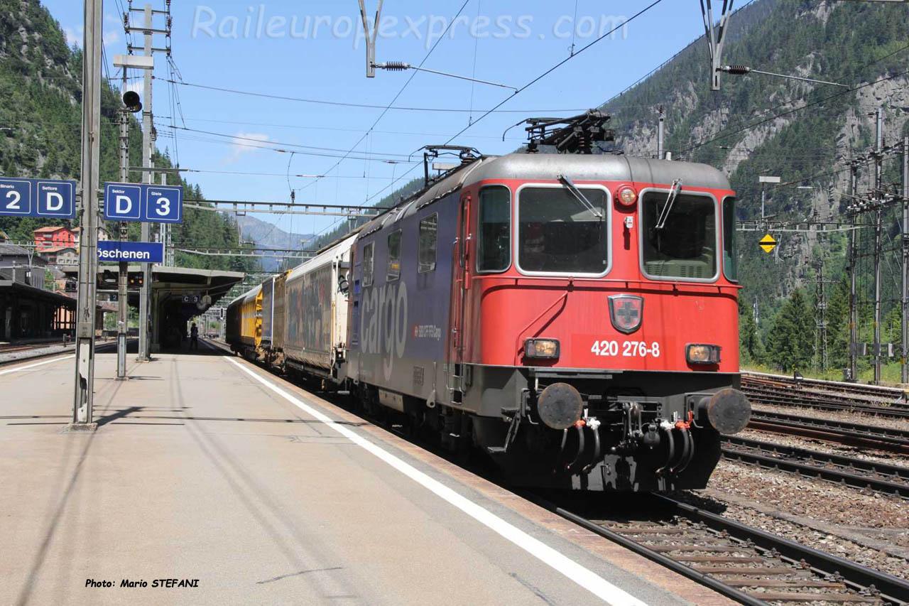 Re 420 276-8 CFF à Göschenen (CH)