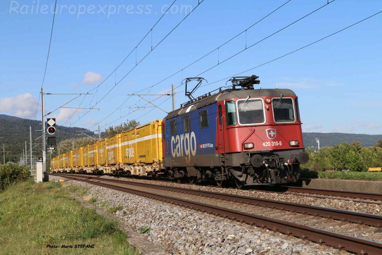 Re 420 310-5 CFF à Boudry (CH)