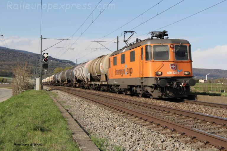Re 420 320-4 CFF à Perreux (CH)