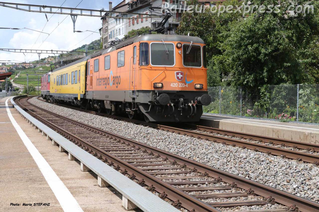Re 420 320-4 CFF à Saint Triphon (CH)