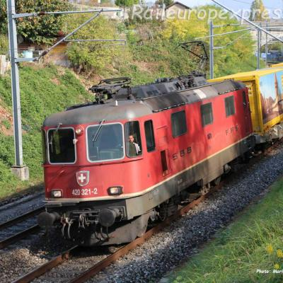 Re 420 321-2 CFF à Boudry Planeyse  (CH)