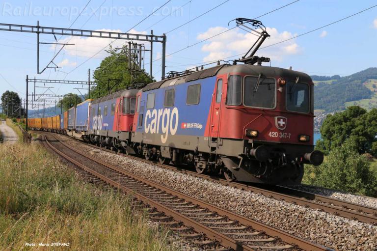 Re 420 347-7 CFF à Kumm (CH)