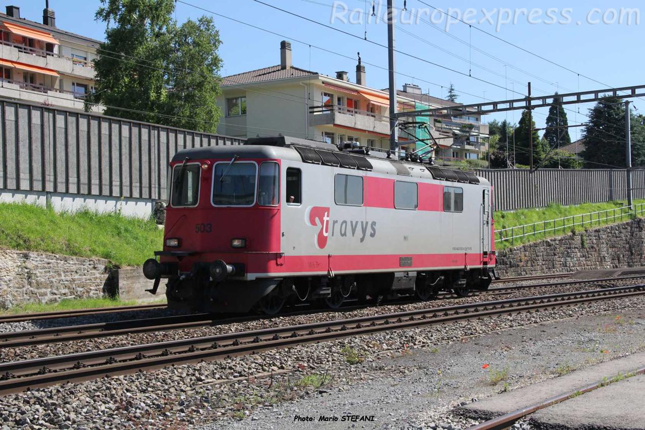 Re 420 503 Travys à Auvernier (CH)