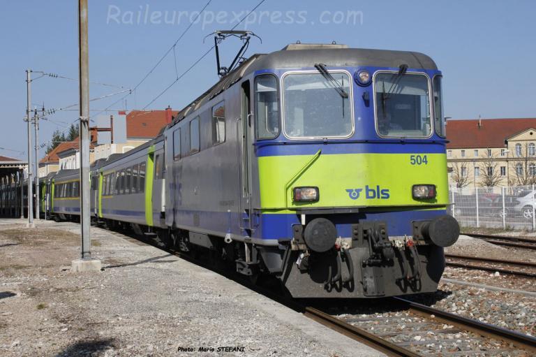 Re 420 504 BLS à Pontarlier (F)