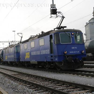 Re 430 115 WRS à Basel Bad (CH)