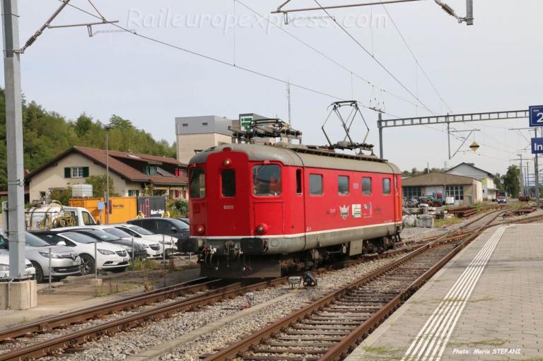 Re 4/4 10009 TransRail à Ins (CH)