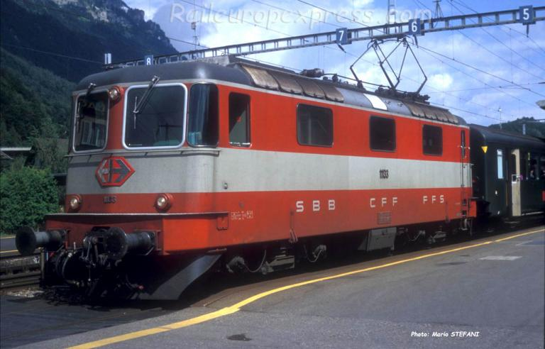 Re 4/4 11133 CFF à Interlaken (CH)