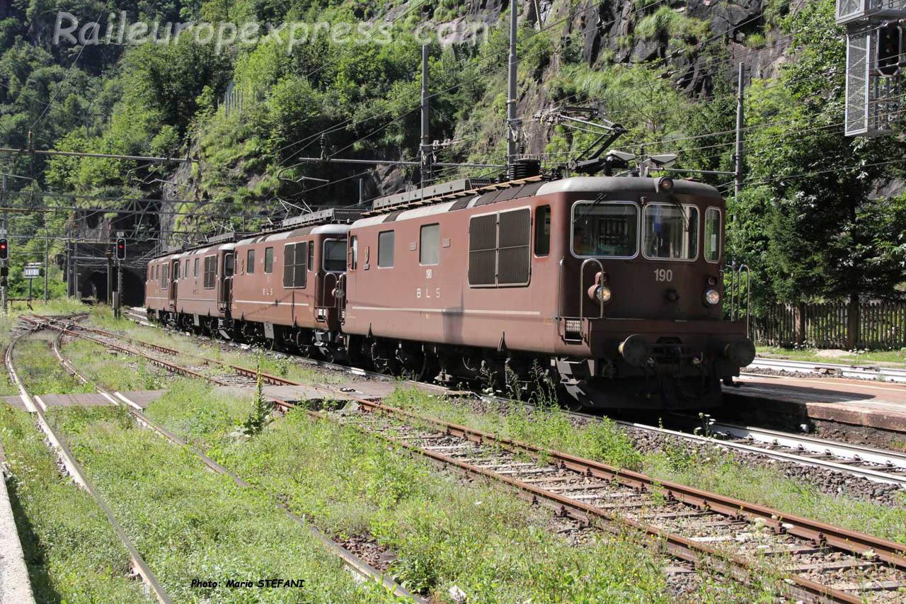 Re 4/4 190 BLS à Iselle (I)