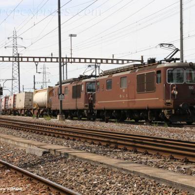 Re 4/4 190 BLS à Pratteln (CH)