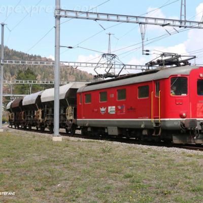 Re 4/4 I 10009 à Travers (CH)