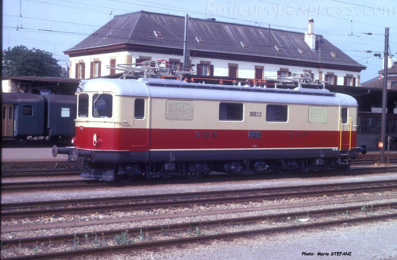 Re 4/4 I 10033 CFF TEE à Yverdon (CH)