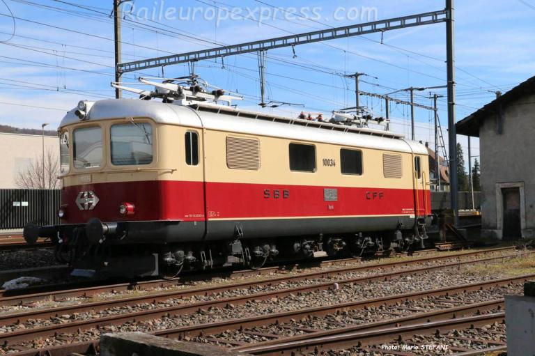 Re 4/4 I 10034 CFF à Sissach (CH)