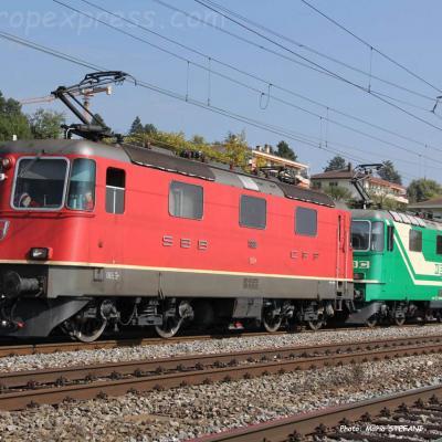 Re 4/4 II 11188 CFF à Auvernier (CH)