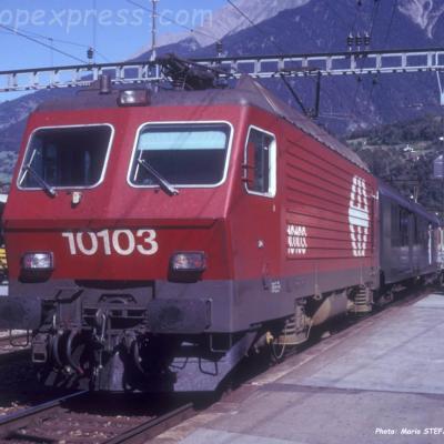 Re 4/4 IV 10103 CFF à Brigt (CH)