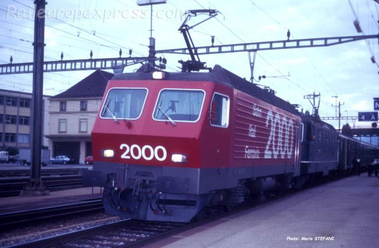 Re 4/4 IV CFF à Neuchâtel (CH)