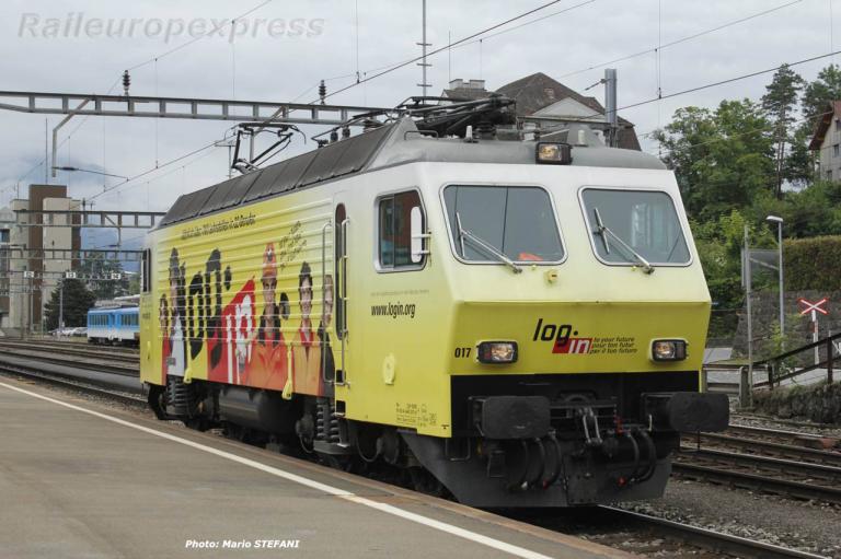 Re 446 017-6 SOB à Arth-Goldau (CH)