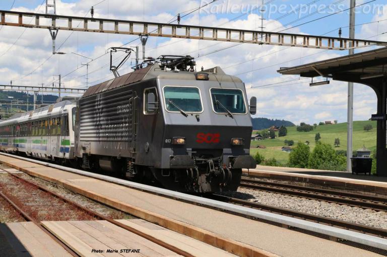 Re 446 017-6 SOB à Immensee (CH)