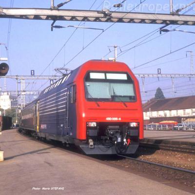 Re 450 005-4 CFF à Yverdon (CH)