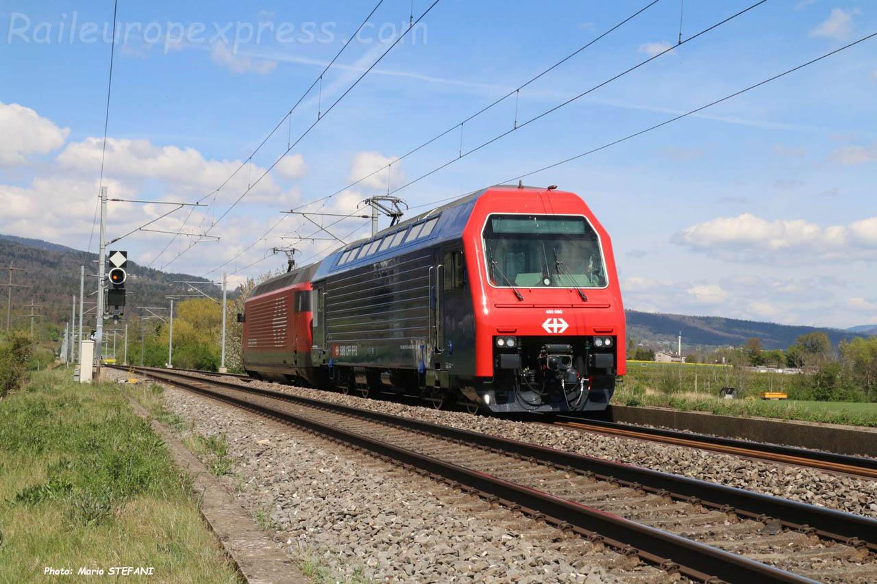 Re 450 080 CFF à Boudry (CH)