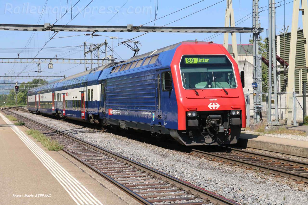 Re 450 CFF à Eglisau (CH)
