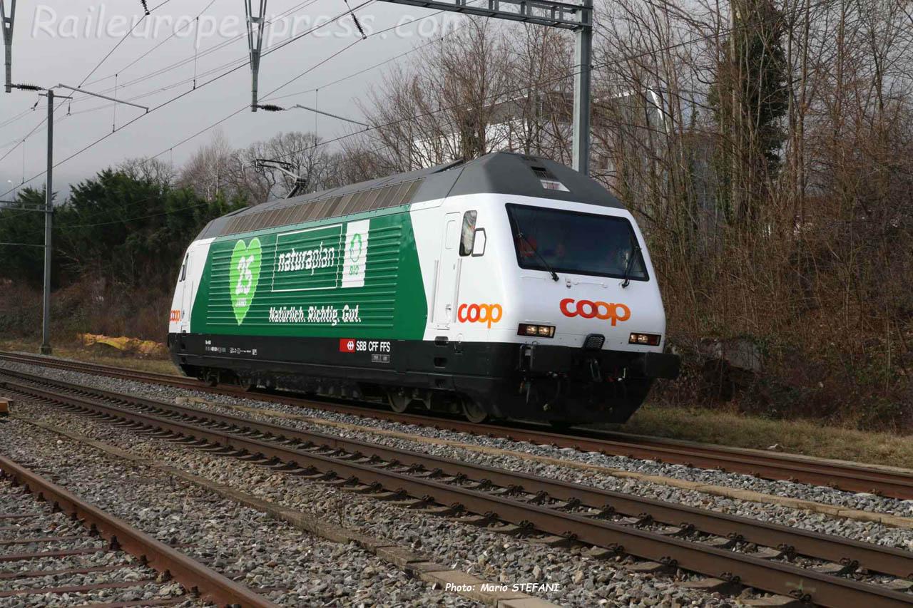 Re 460 001-1 CFF à Boudry (CH)