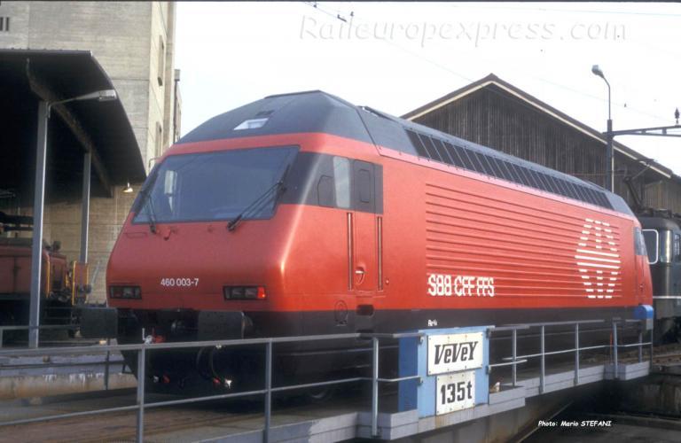 Re 460 003-7 CFF à Yverdon (CH)