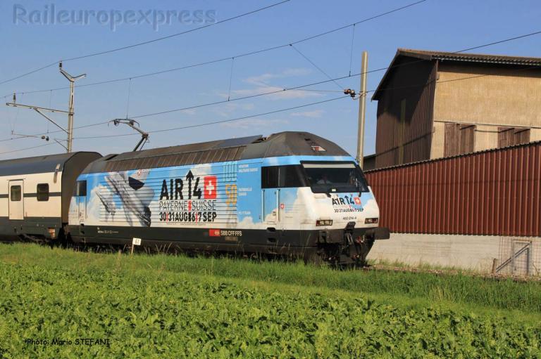 Re 460 014 -4 CFF à Corcelles Nord (CH)