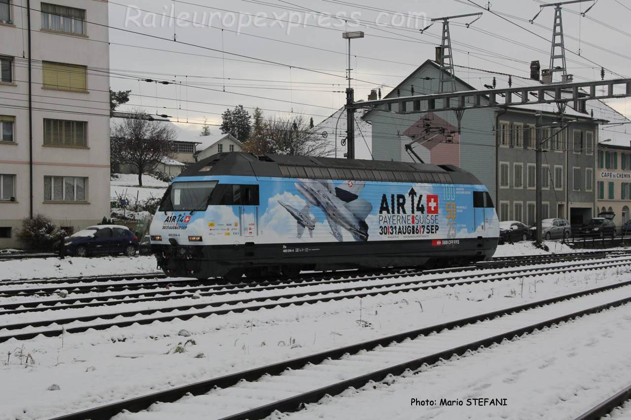 Re 460 014-4 CFF à Payerne (CH)