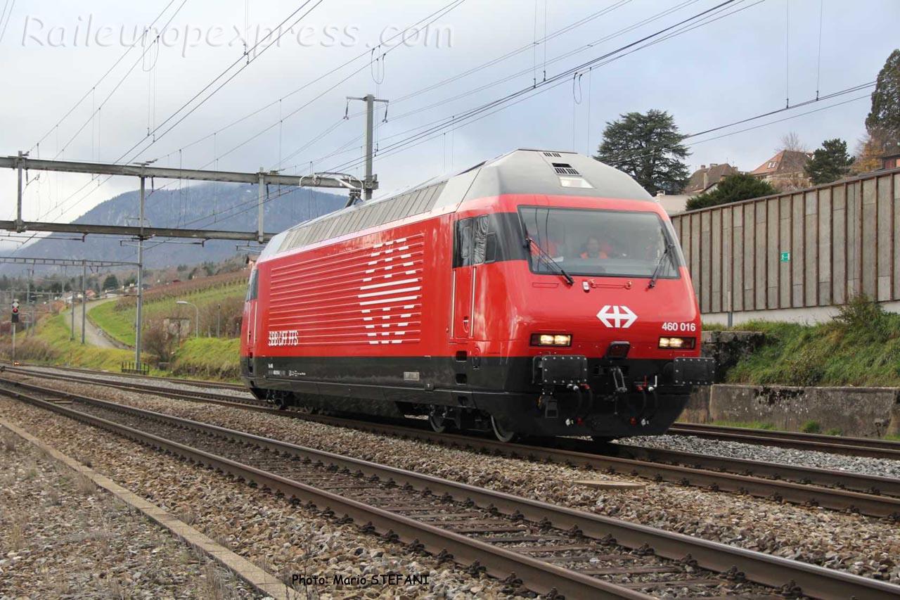 Re 460 016 CFF à Auvernier (CH)