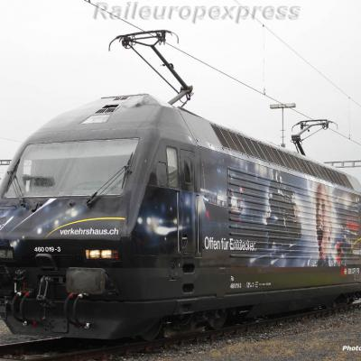 Re 460 019-3 CFF à Yverdon