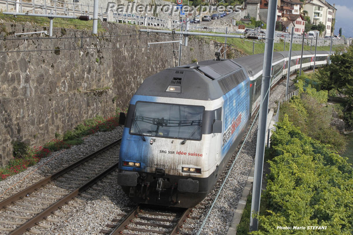 Re 460 020-1 CFF à Saint Saphorin
