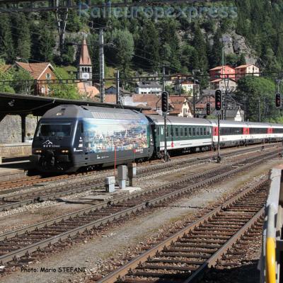 Re 460 023-5 CFF à Göschenen (CH)