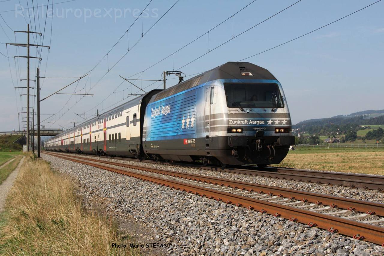 Re 460 024-3 CFF à Kiesen (CH)