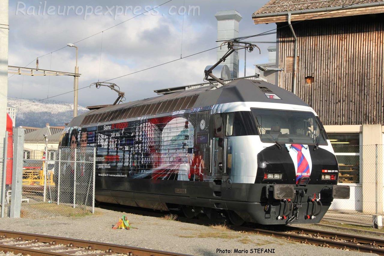 Re 460 028-4 CFF à Yverdon (CH)