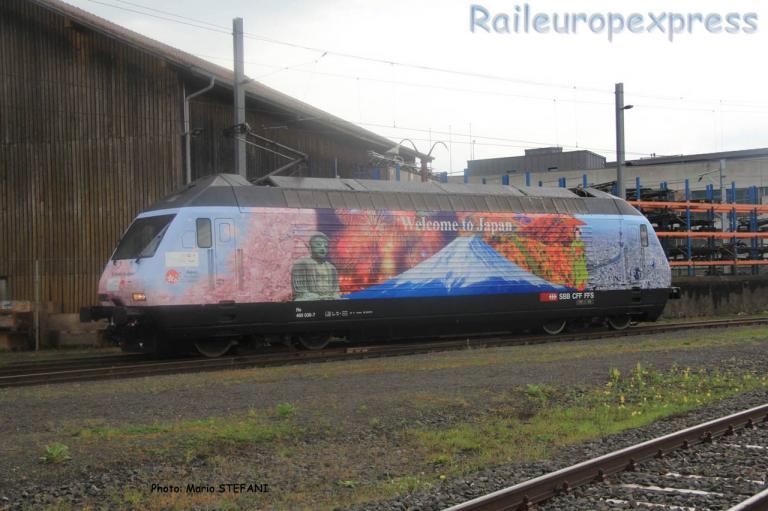 Re 460 036-7 CFF à Yverdon (CH)