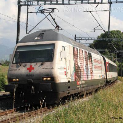 Re 460 041-7 CFF à Kumm (CH)