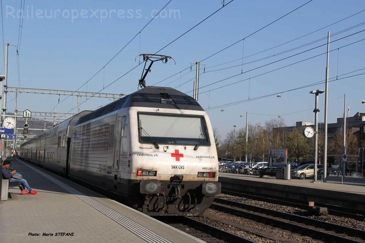 Re 460 041-7 CFF à Liestal (CH)