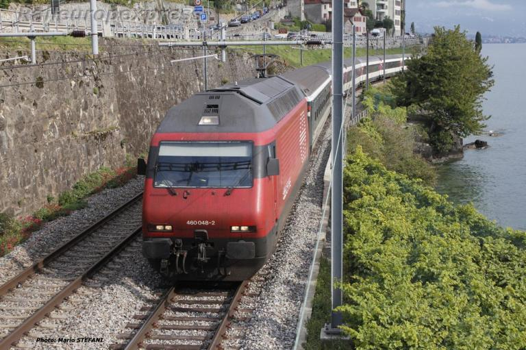 Re 460 048-2 CFF à Saint Saphorin (CH)