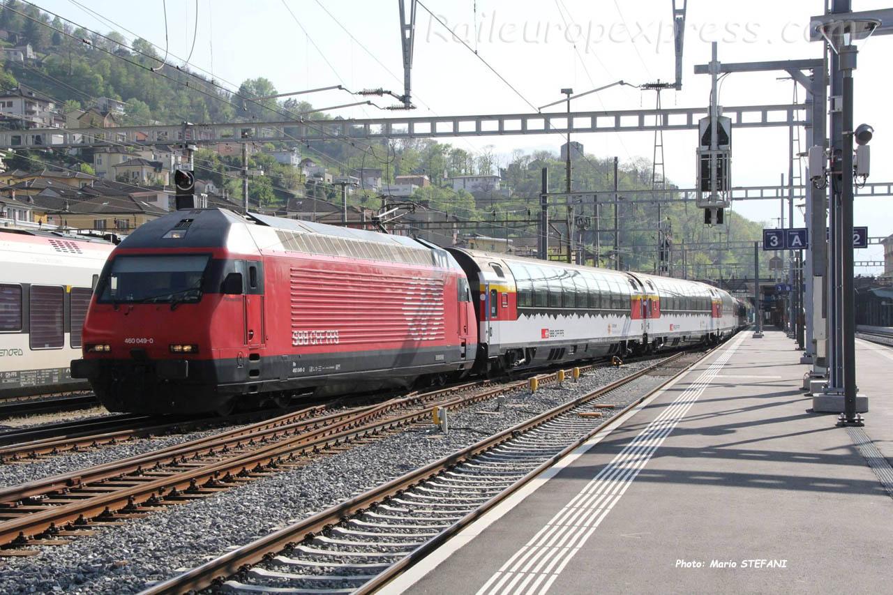 Re 460 049-0 CFF à Bellinzona (CH)